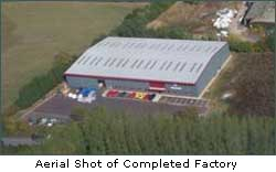 Aerial Shot of Completed Factory
